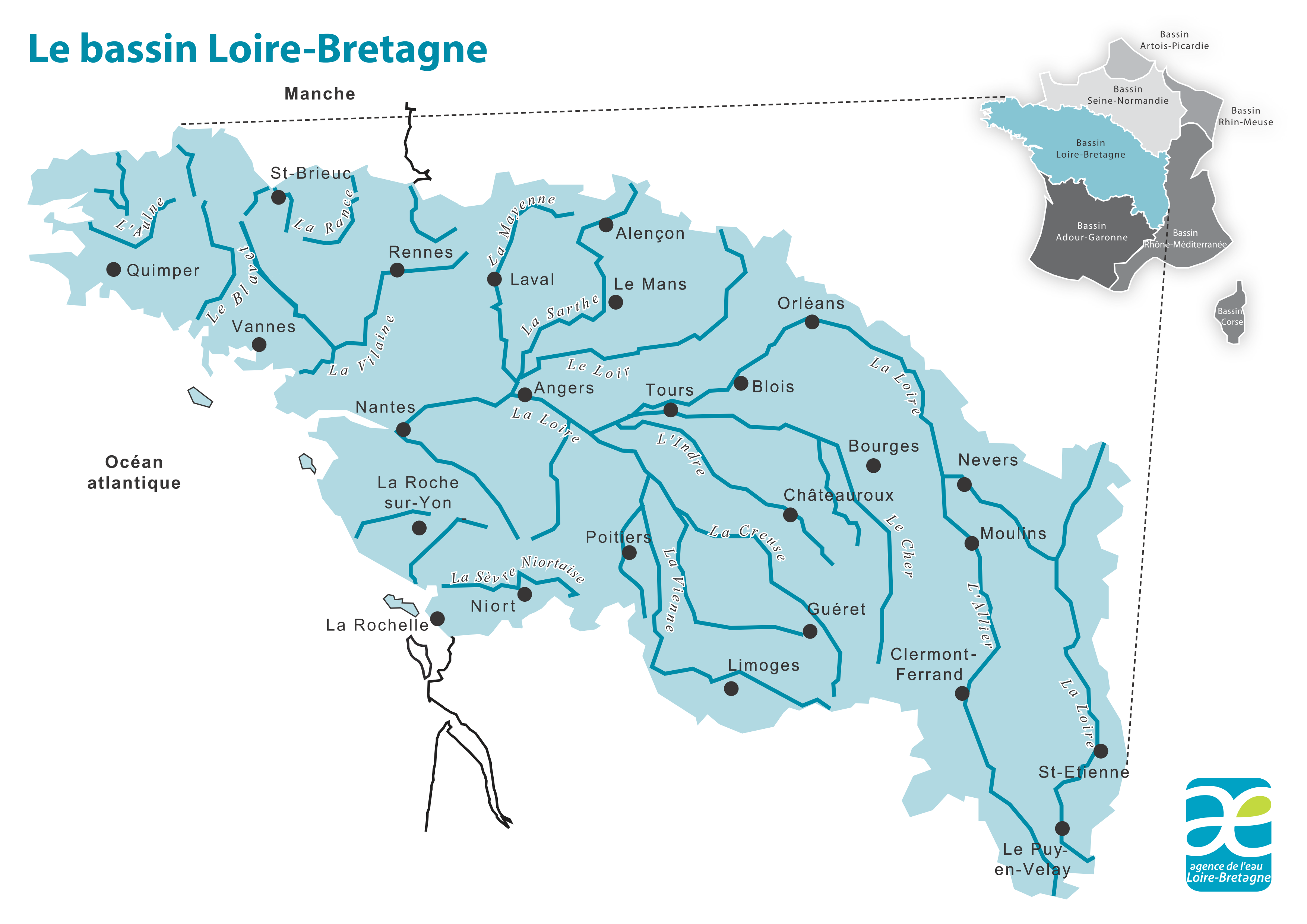 Le bassin Loire-Bretagne