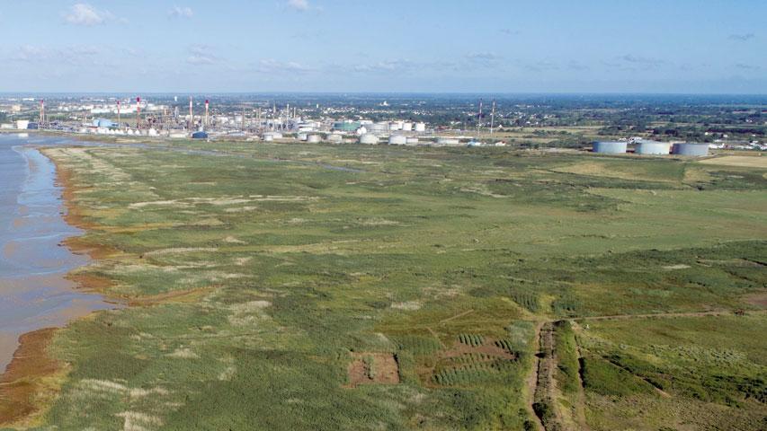 Photo illustrative : une aérienne du site de Donges