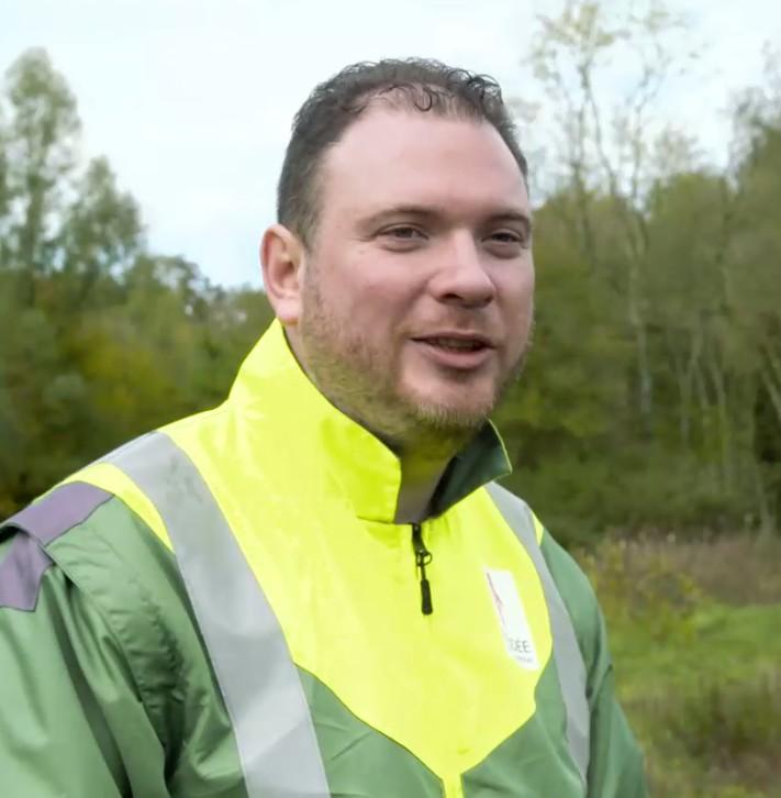 Elie Louiggi, technicien des Espaces Naturels Sensibles du Département de la Vendée